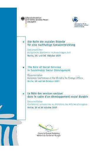 RŽle Serv.sociaux/Berlin.tril - Soziale Dienste in Europa