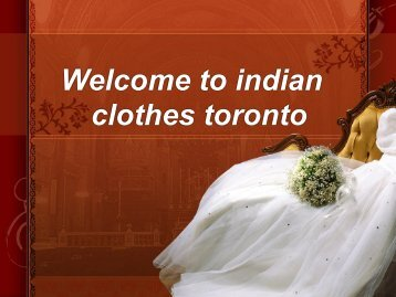 indian bridal clothes toronto | indian bridal wear toronto