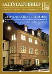 ALTSTADTBRIEF - Freunde der Altstadt Kemptens eV