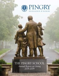 The strength of Pingry's endowment is the ... - Pingry School
