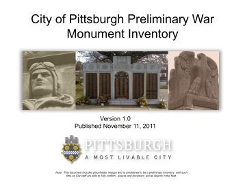 to download the War Monument - City of Pittsburgh