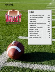 HONORS - Missouri Valley Conference