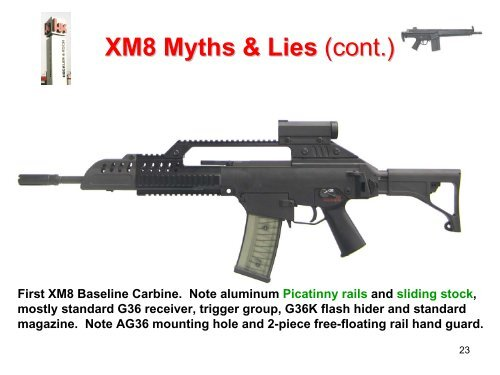 XM8 Myths & Lies Very fir