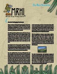 The Buzz Newsletter - Mosquito Range Heritage Initiative