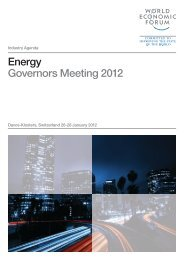 Energy Governors Meeting 2012 - World Economic Forum