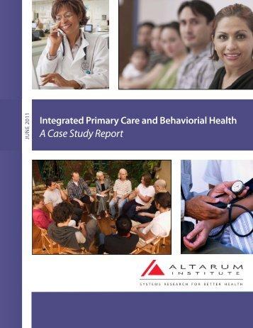 A Case Study Report - Altarum Institute