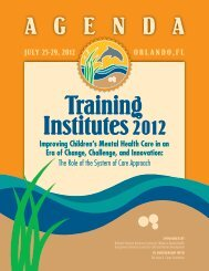 Training Institutes 2012 - National Technical Assistance Center for ...