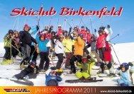 75217 Birkenfeld (07231) 480270 · Fax (07231) - Ski-Club ...