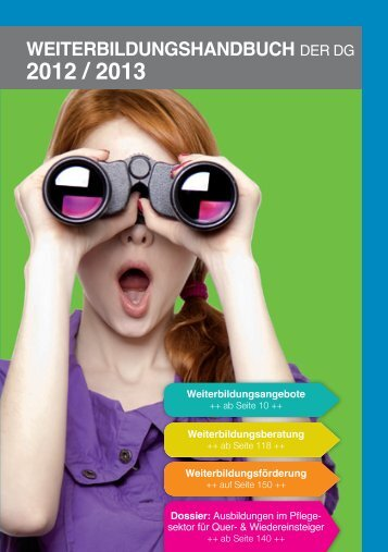 Weiterbildungshandbuch der DG 2012-2013 - DG Bildungsserver
