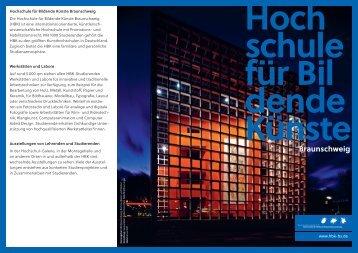 Flyer zur Hochschule für Bildende Künste Braunschweig