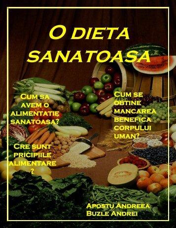 O dieta sanatoasa