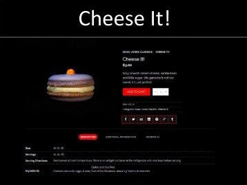 Cheese It! - IsaacJones Macarons