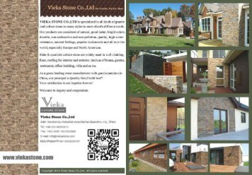 Updated Vieka stone wall Panel catalogue