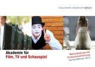 Akademie für Film, TV und Schauspiel - Coaching Company Berlin