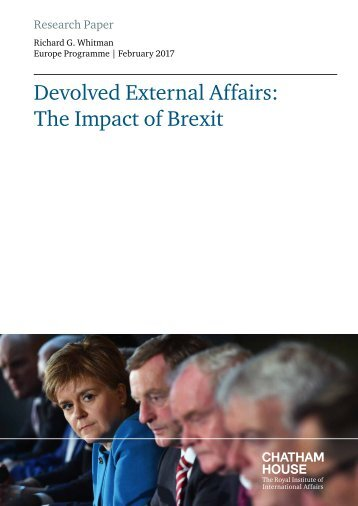 Devolved External Affairs The Impact of Brexit
