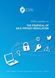 the proposal of an e-Privacy Regulation