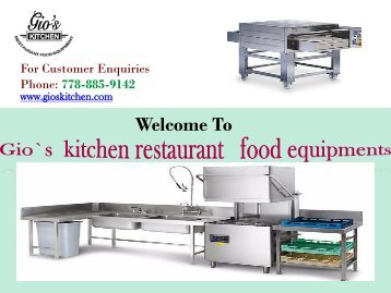 Commercial Kitchen Vancouver|gioskitchen