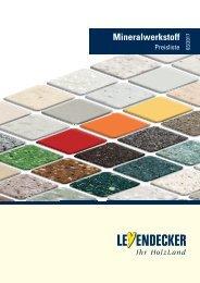 Leyendecker - Mineralwerkstoff Preisliste