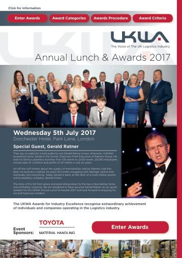Annual Lunch & Awards 2017