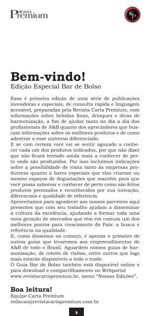 Guia Bar de Bolso - Revista Carta Premium