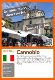 Cannobio Sonntag 25. Juni Flyer Rückseite bis Juni 2017