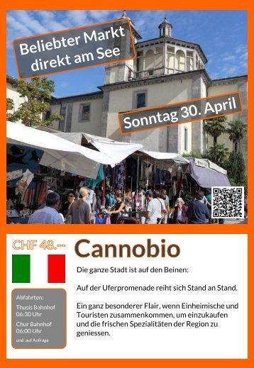 Cannobio Sonntag 30. April Tagesausflug Flyer