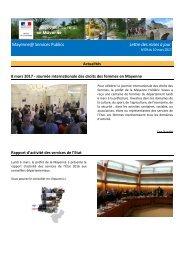 Mayenne@ Services Publics Lettre des mises à jour