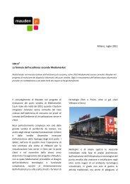 Milano, luglio 2012 VDI=E3 La formula dell'eccellenza ... - Mauden