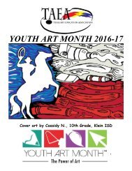 YOUTH ART MONTH 2016-17