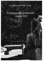 Catalogue des promotions Année 2017