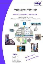 OPM—Online Product Monitoring - IPC Klaus Mauderer