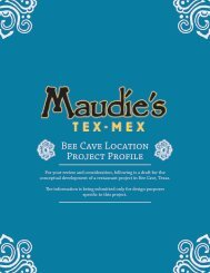 Bee Cave Location Project Profile - Maudie's
