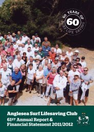 61st Annual Report 2011/2012 - Anglesea Surf Life Saving Club