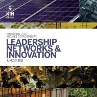LEADERSHIP NETWORKS & INNOVATION - KIN Global