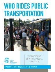 WHO RIDES PUBLIC TRANSPORTATION