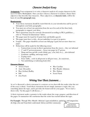 Character trait essay