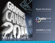 Register before October 28th and SAVE $30! - Graphics Canada
