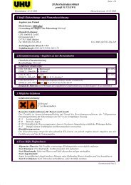Sicherheitsdatenblatt - Maag Technic AG