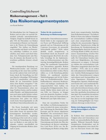 Das Risikomanagementsystem - Controller Institut