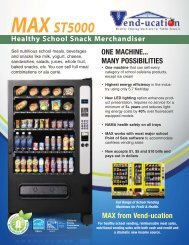 MAX from Vend-ucation - Vending Machines In Schools