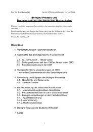 Bologna-Prozeß und Bachelorisierung der deutschen Hochschulen