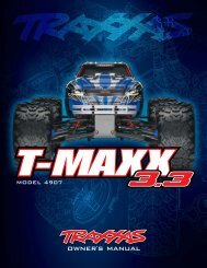 4907 Manual - Traxxas