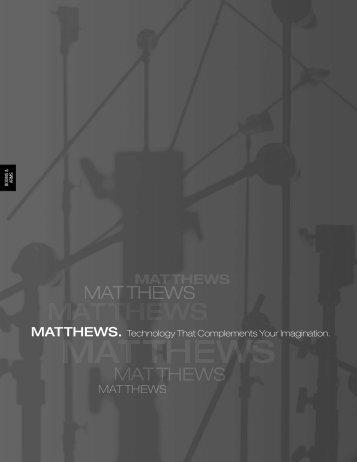 61004 Matthews Cover For PDF - Matthews Studio Equipment, Inc.