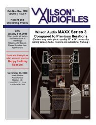 Wilson Audio MAXX Series 3 Compared to Previous Iterations
