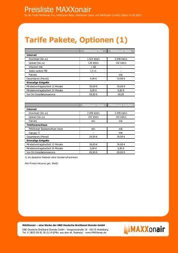 Maxx Tarife Allg. Services_AW - Wimax DSL Internet Anbieter ...