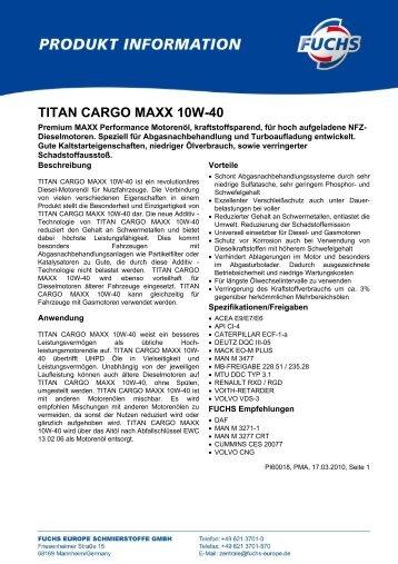 TITAN CARGO MAXX 10W-40 - Korb Schmierstoffe