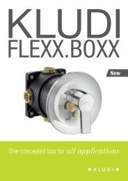 One concealed box for all applications - kludi flexx.boxx