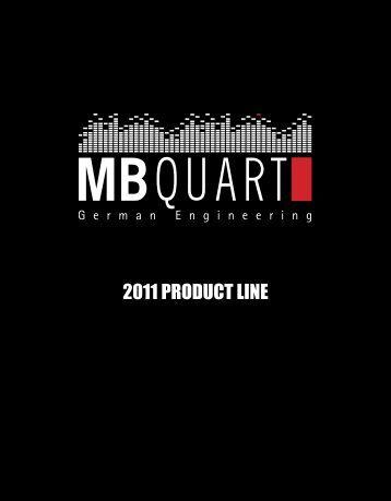 2011 PRODUCT LINE - MB Quart