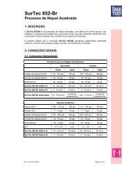 SurTec 852-Br Processo de Níquel Acetinado - Surtec do Brasil
