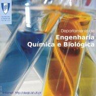 Folheto do DEQ - Departamento de Engenharia Química